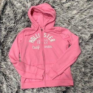 Hollister Hoodie hooded sweatshirt pink medium